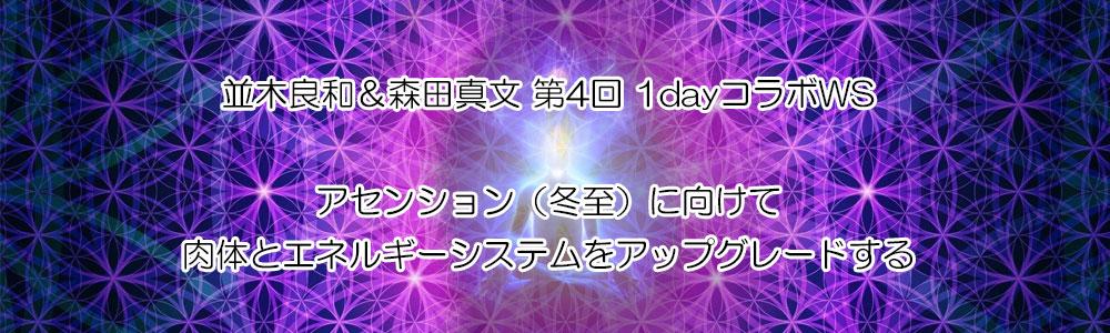 並木良和&森田真文 第4回 1dayコラボWS『アセンション(冬至)に向けて肉体とエネルギーシステムをアップグレードする』