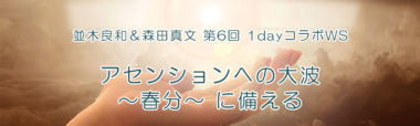 並木良和&森田真文 第6回 1dayコラボWS『アセンションへの大波~春分~に備える』